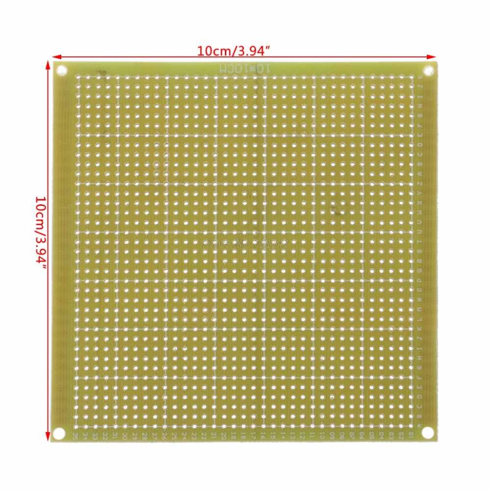 Detail Feedback Questions About 10x10cm Single Side Prototype Pcb Diy High Quality 2pcs Breadboard Printed Circuit Panel Board Tinned Universal Fr4