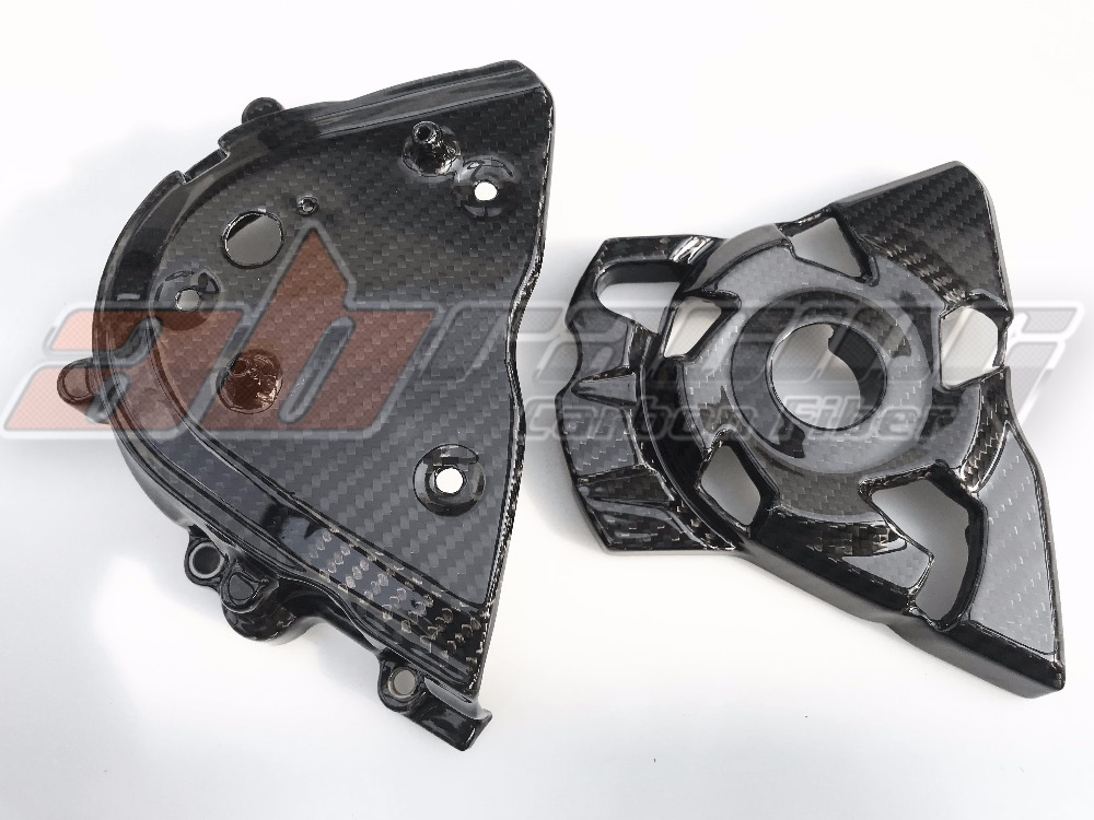 Sprocket  Cover For Kawasaki Z1000 2014-2018 Full Carbon Fiber 100%  Twill
