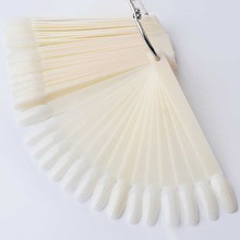 50pcs/ Nail Tips Fan Shaped Color Palette Card Display Practice Sticks Nail style swatches Nail art display shelf Polish Card 1sheet 25color silicone gel polish display 8 5 10cm white color card diy nail art practice display card diy nail art salon ctd25