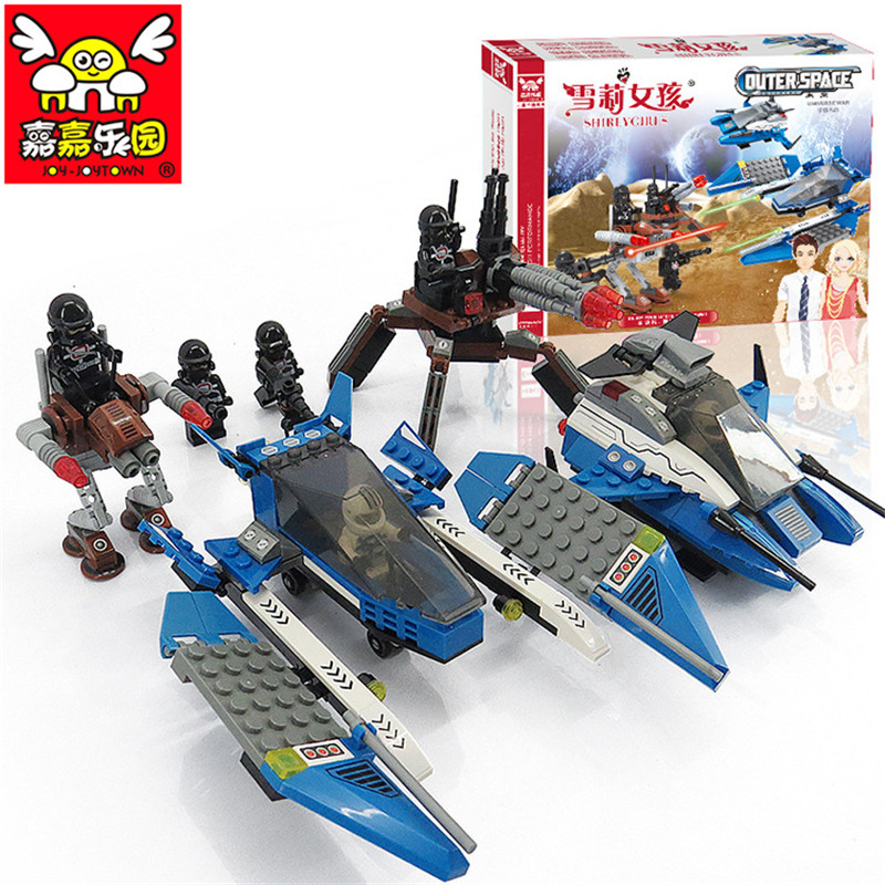 2018 NEW 461PCS Outer Space Ship DIY Building Block Fighter Model Active Assemble Educational Toys for Children Birthday Gift 1000g dynamic amazing diy educational toys plasticine indoor magic play do dry sands mars space sands color clay for kids