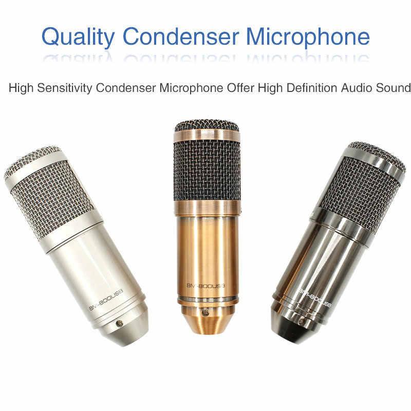 Micrófono de condensador USB BM 800 con soporte trípode micrófono ajustable para grabación de computadora Karaoke PC actualizado BM800