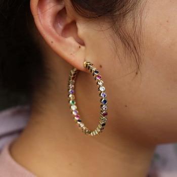 Boucle d'oreille arc-en-ciel Femme 3