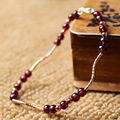 Fashion Natural Garnet Beads Original Gilded DIY Valentines Day Gift Jewelry Accessories Wholesale Top Quality Buddhist Bracelet