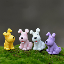 Mini Colorful Dog Doggie Model Small Statue Figurine Micro Crafts Ornament Miniatures Boy DIY Home Garden Decor Doll Toy Farm