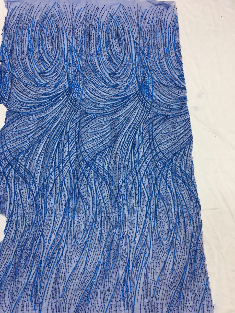embroidery african tulle Lace fabric David 51214 with sequins 5yds lot French net lace fabric for