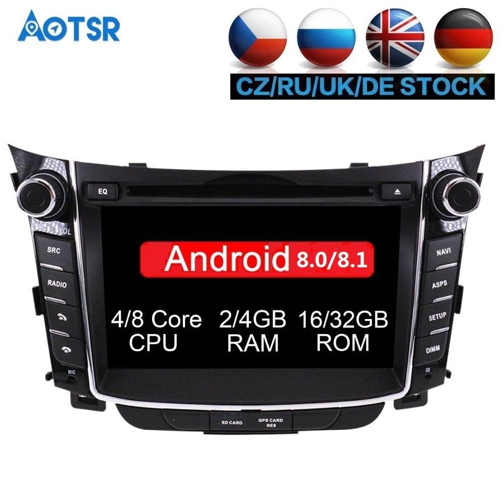 Android 8.1 8.0 lecteur dvd de Voiture pour Hyundai I30 Elantra GT 2012 2013 2014 2015 2016 Autoradio gps navigation stéréo multimédia
