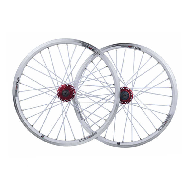 20 pouces 406 roues de vélo pliantes V frein à disque roue vélo pneu jante roues de vélo