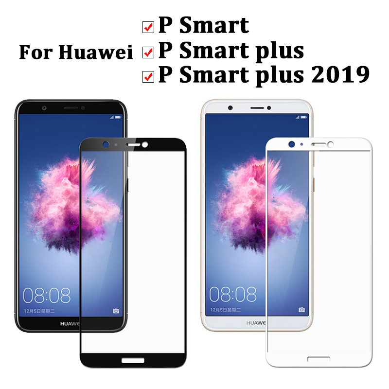 Image 2 - Tempered Glass On For Huawei P Smart Plus 2019 Screen Protector Psmart Smartplus Armor Huwei Huaweii Protective Full Cover Film-in Phone Screen Protectors from Cellphones & Telecommunications