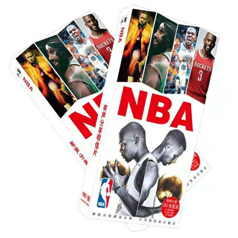 NBA All Star Collection Playing Card Paper Card 30 Pieces Cartoon Card City Out Of Print Post Card Kobe James