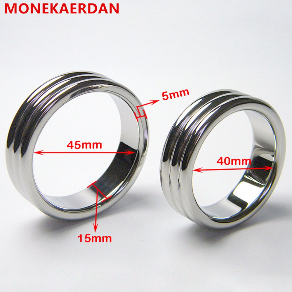 Metal Male Cock Cage Stainless Steel Penis Rings Bondage Slave In Adult Games , Fetish Erotic Sex Products Toys For Men - QW04