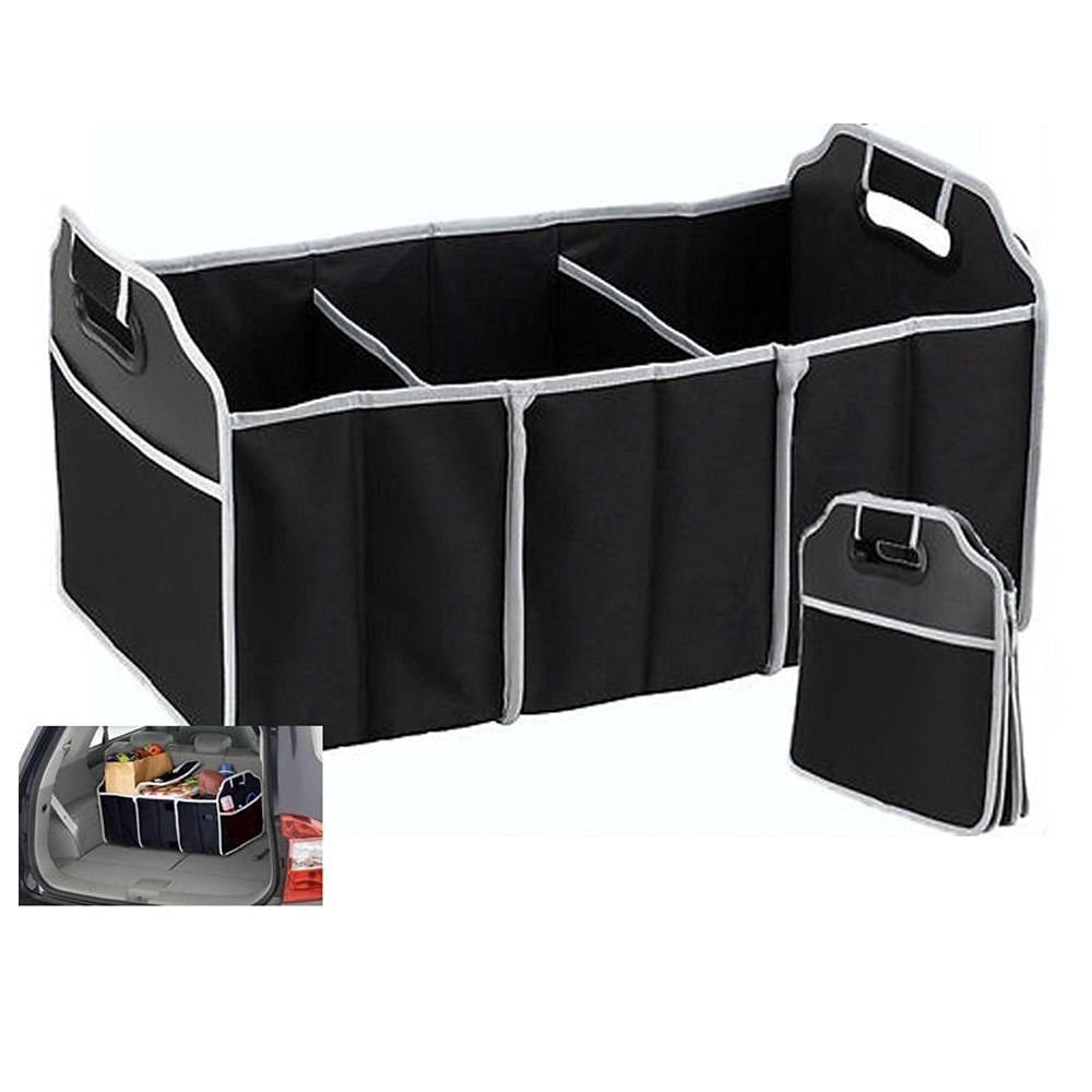 Well-Educated Non-woven Portable Collapsible Folding Flat Trunk Auto Car Organizer For Car Suv Truck Van Sundries Food Toy Book Colth Storage Traveling Interior Accessories
