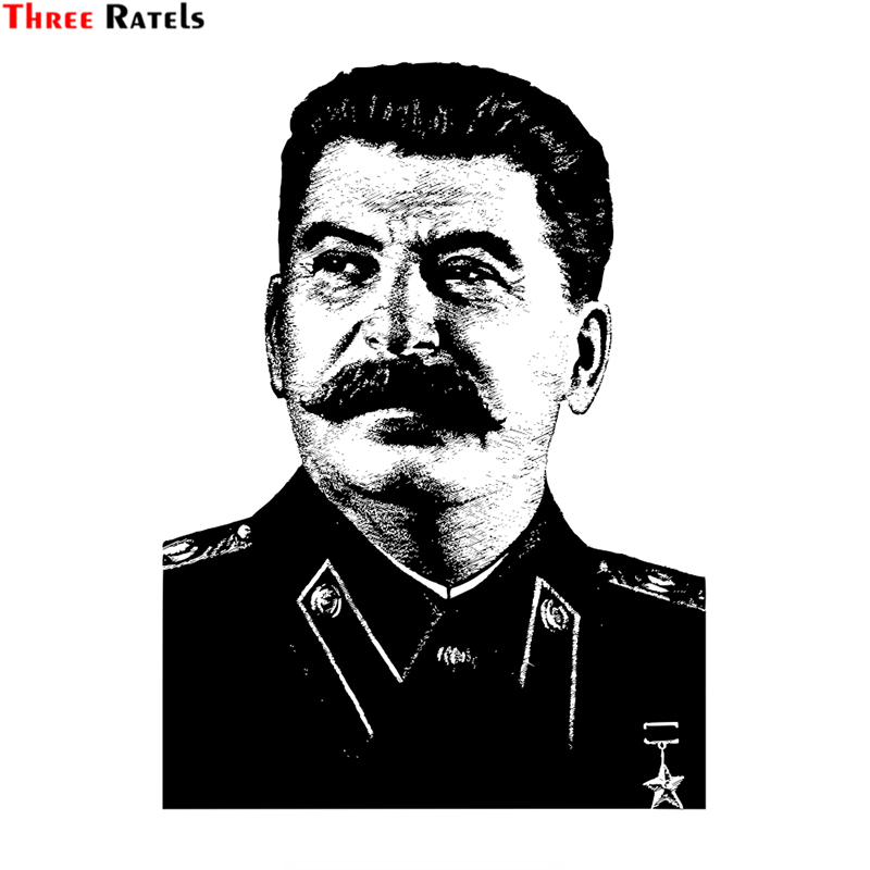 Three Ratels Lcs356 11x15 1cm Stalin Colorful Car Sticker Funny