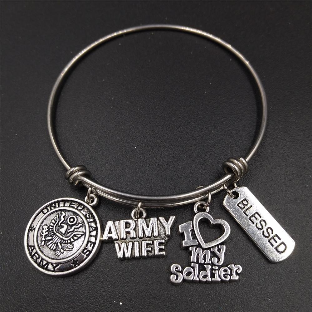 Модный американский армейский женский браслет диаметром 64 мм
