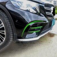 Для Mercedes Benz X253 аксессуары для бампера автомобильные наклейки benz GLC модифицированные Противотуманные фары яркие полосы украшения в сетку на