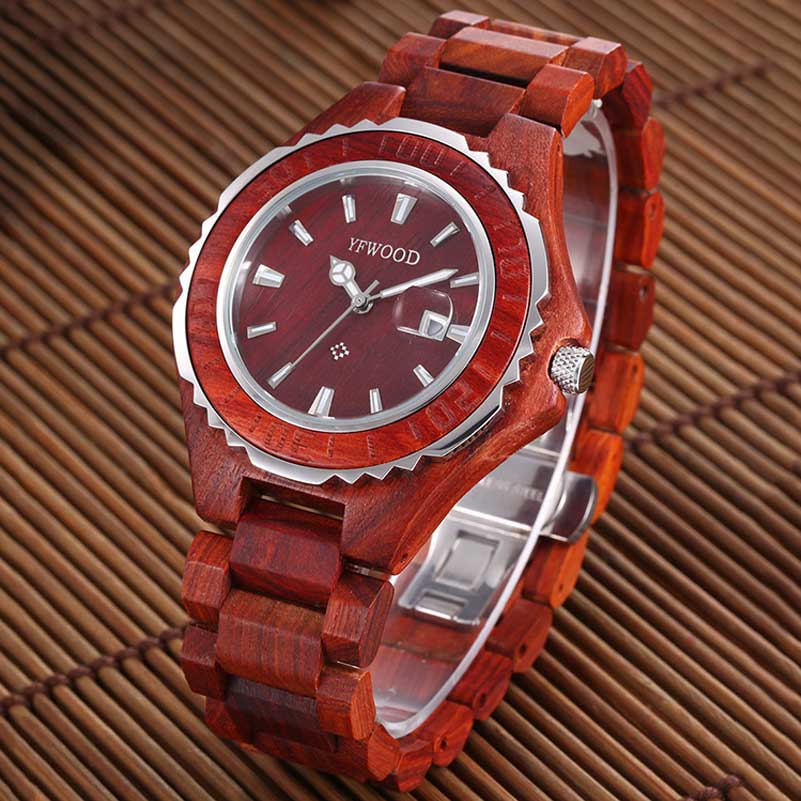 Wooden Fashion Casual Mens Watches Top Brand Luxury Business Quartz-Watch Men Wristwatch Male Clock Relogio Masculino bbb bhe 67
