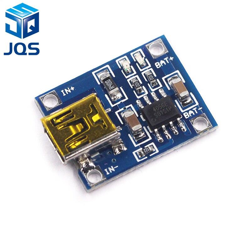 Mini USB 5 v 1A 18650 TP4056 Caricatore di Batteria Al Litio Modulo di Ricarica Con Protezione Dual Funzioni 1A Li-IonMini USB 5 v 1A 18650 TP4056 Caricatore di Batteria Al Litio Modulo di Ricarica Con Protezione Dual Funzioni 1A Li-Ion