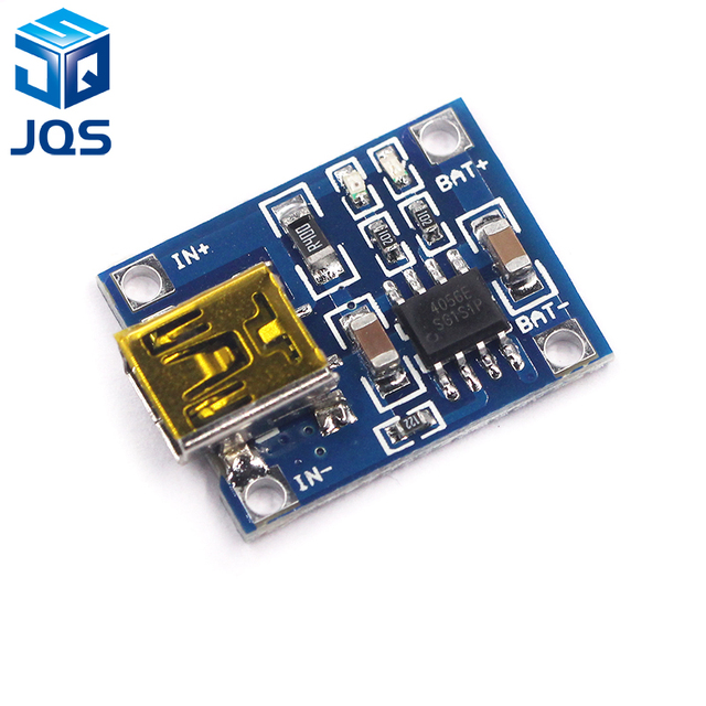 Mini USB 5 v 1A 18650 TP4056 Lithium Batterij Oplader Module Opladen Board Met Bescherming Dual Functies 1A Li-Ion