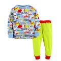 Otoño Invierno Suave Bebé Niños Pijamas Conjuntos Niños Ropa De Dormir de Manga Larga nueva Llegada de Algodón Niños Ropa Establece Tamaño 2-7 T