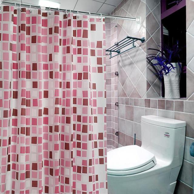 Modern PEVA shower curtain Waterproof curtain for the bathroom Blue ...