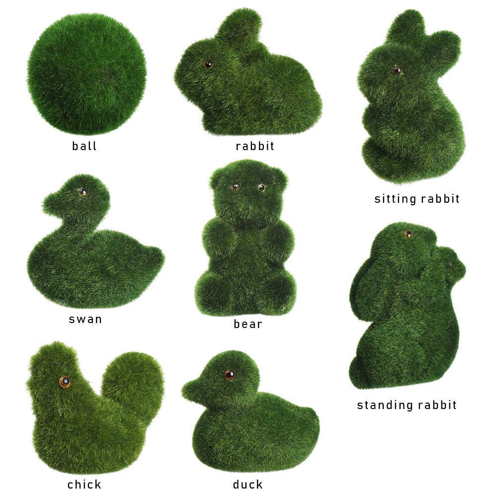 2020 Nieuwe Potplanten Handgemaakte Kunstgras Pasen Konijn Gras Dier Ornament Room Decor Home Office Event & Party Benodigdheden