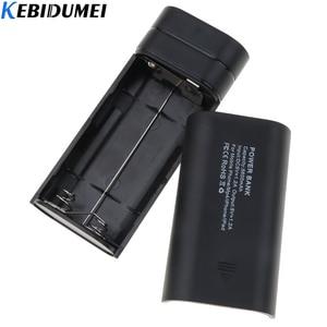 Image 4 - Kebidumei 2X 18650 USB 보조베터리 배터리 충전기 케이스 DIY Box for phone poverbank For iPhone 휴대용 충전 외장 배터리