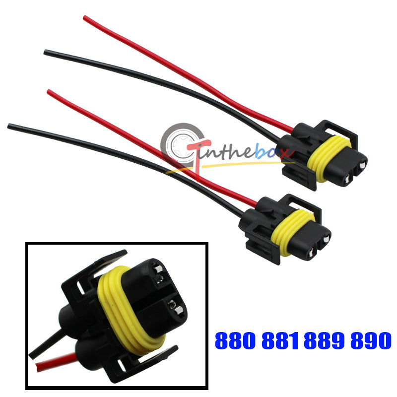 2 880 font b 881 b font 889 Female Adapter Wiring font b Harness b online get cheap fog light wire harness 881 aliexpress com  at reclaimingppi.co