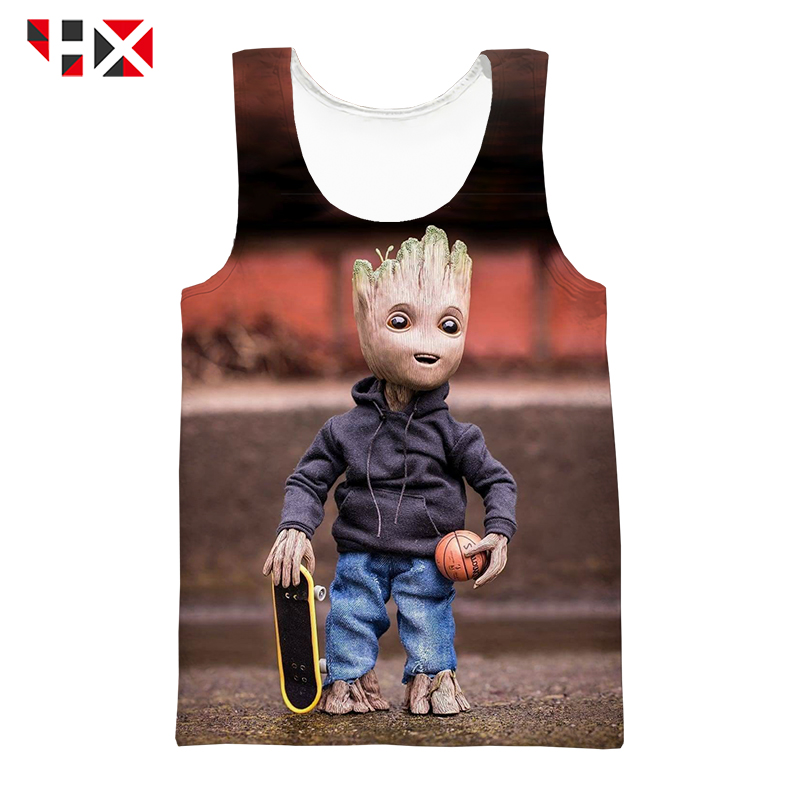 HX Summer 3D Print   Tank     Tops   Avengers Endgame Unisex Vest Movie Groot Harajuku Streetwear Style Singlet   Top   HX613