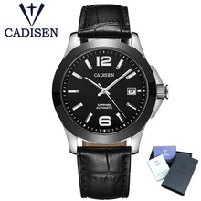 лучшая цена CADISEN Watch Men Top Brand Luxury Automatic Mechanical Mens Sports Wristwatch Bright Hands Male Hodinky Clock Relogio Masculino
