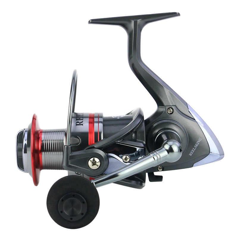 Bobina di pesca Hot-selling 5.5: 1 di Filatura di metallo Mare Pieghevole Maniglia Bobina di alluminio del Cuscinetto Yumoshi stile classico 1000-7000