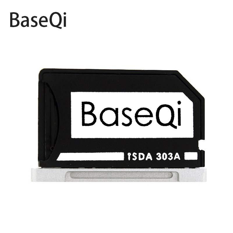 """BASEQI adaptateur microSD lecteur de carte TF adaptateur de lecteur furtif Ninja pour MacBook Air 13 """"et MacBook Pro Retina 13""""/15 """"(Non rétine)"""