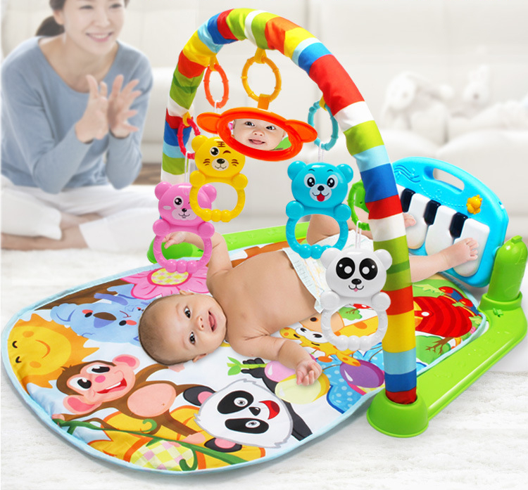 HTB1ZqhcdVuWBuNjSszbq6AS7FXa7 3 in 1 Baby Play Mat Rug Toys Kid Crawling Music Play Game Developing Mat with Piano Keyboard Infant Carpet Education Rack Toy