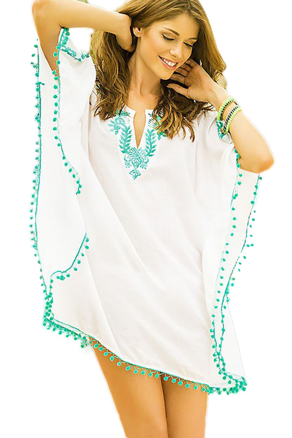 Beach Tunic Cover Ups Swimwear Bikini Cover Up Saida De Praia Pareo ...