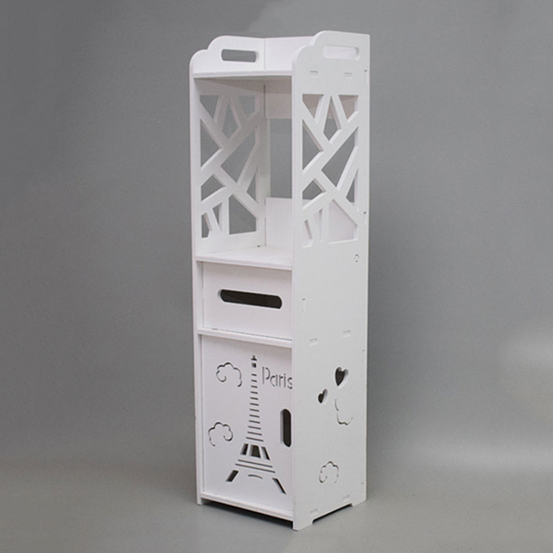 Minimalist Floor Mounted Nightstands DIY Mini PVC Storage Cabinet Bedside Box Of Modern Toilet Storage Bathroom Shelf Nightstand