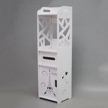 Минималистичные напольные тумбочки DIY Мини ПВХ шкаф для хранения Прикроватный ящик современного туалетного хранения ванная полка тумбочка