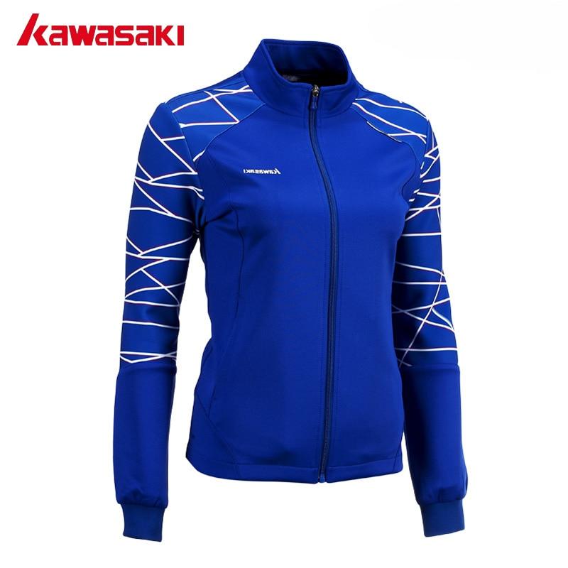 קוואסאקי סתיו מותג נשים גבירותיי מעילי ספורט מעיל חם Windproof לנשימה חדר כושר בדמינטון טניס מקצועי JK-172805