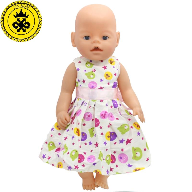 43cm Baby Born Zapf Doll Clothes Bear Head Printed