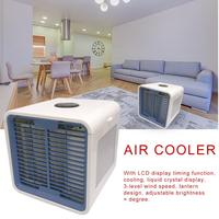 Car Portable Mini Air Conditioner Cooling USB LCD Timing Cooler For Bedroom Cooler Fan Colorful Water Cooled Fan Air Conditioner