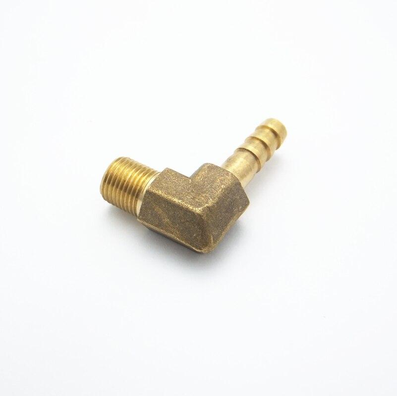 """1//8/"""" BSP à 6 mm laiton Barb Hose Tail Fitting Male coude Carburant Air Gaz Eau"""