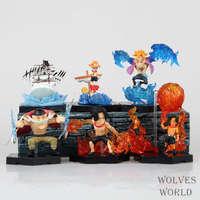 6 шт./компл. One piece Луффи ace Marco Эдвард Ньюгейт кукла аниме рис Коллекция ПВХ модель игрушки фигурку для друзей подарок