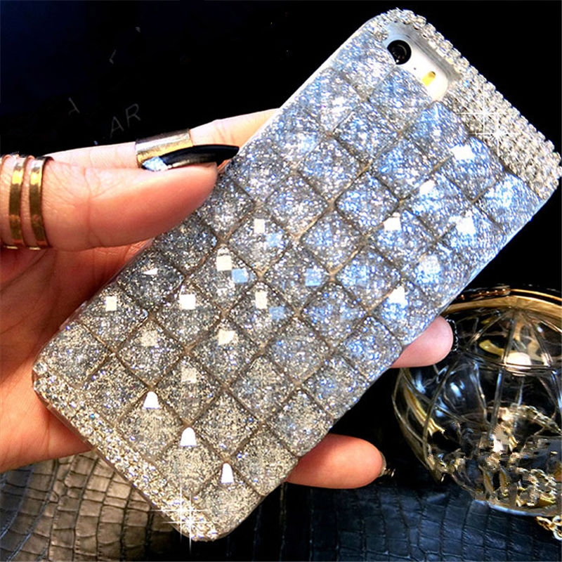 For Samsung A3 A5 A7 2016 2017 A8 Plus 2018 A9 Luxury Glitter Diamond Crystal Rhinestone Phone Case Soft Back Cover handmade DIY