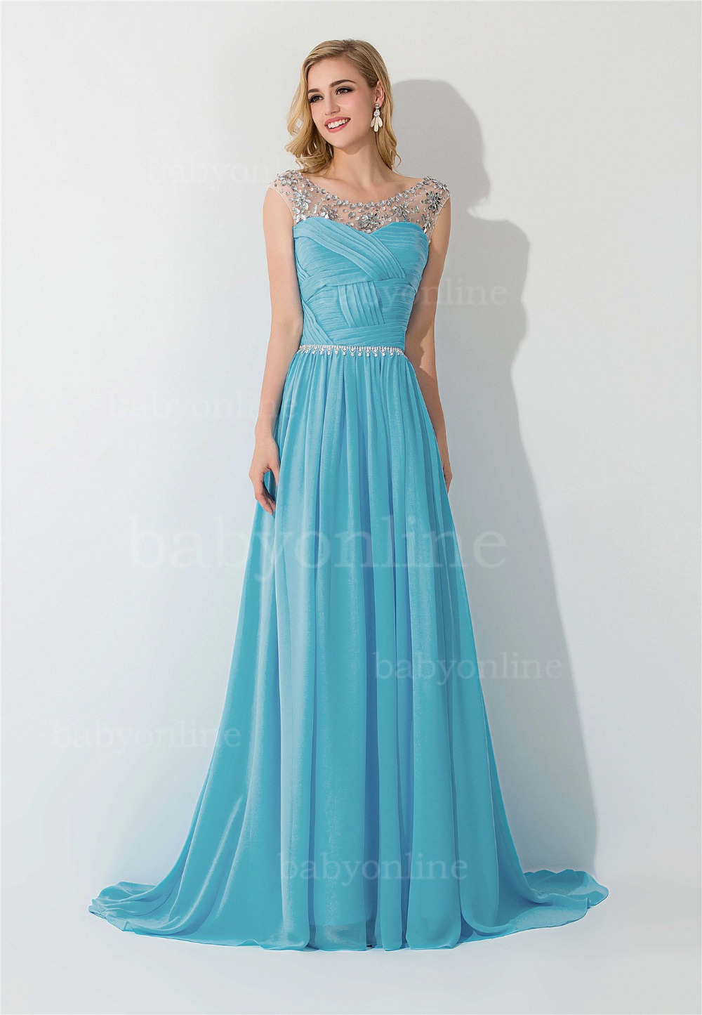 Online Shop Elegant Chiffon Formal Long Dresses Evening Dress 2017 ...