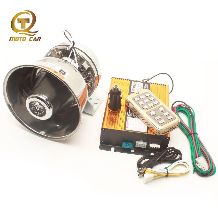 Universal Loudspeaker Horn Multi tone 12 Sound Alarm 200W 12V Police Siren Megaphone Wireless Control for Car Boat Truck Speaker