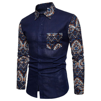 Fashion Men's Cotton Slim Shirt