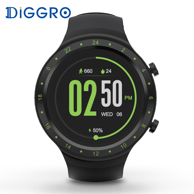 Diggro DI07 Smartwatch Bluetooth 4.0 512 MB 8 GB Android 5.1 Soutien IP67 3G GPS WIFI Smartwatch Pour IOS & Android PK DI08