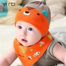YIFEI Autumn Winter Baby Beanie Baby &Kids New Baby Hat  Warm Sleep Cotton Toddler Cap Kids Newborn Clothing Accessories Hat