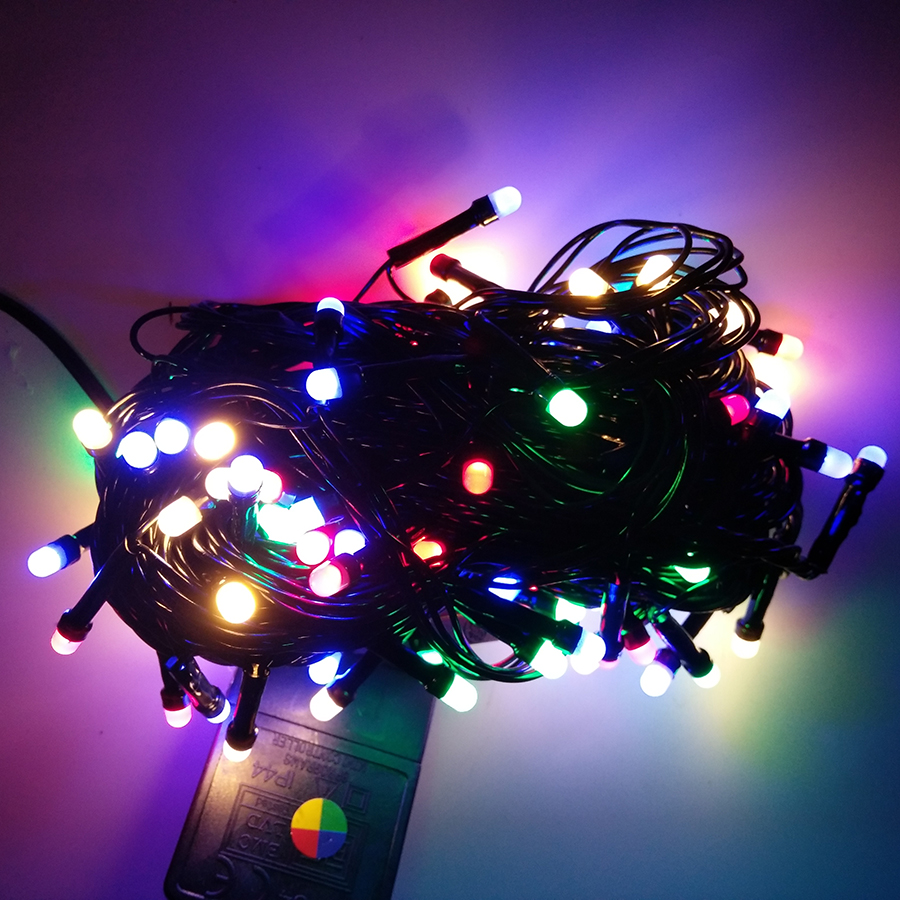 BEIAIDI 8M 72 Led Christmas String Light Black Wire Fairy String Light Outdoor Garland For Wedding Party Holiday Decoration
