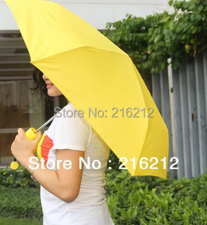 Novelty Umbrella Umbrellas Banana Umbrella Um-banana Yellow / Green
