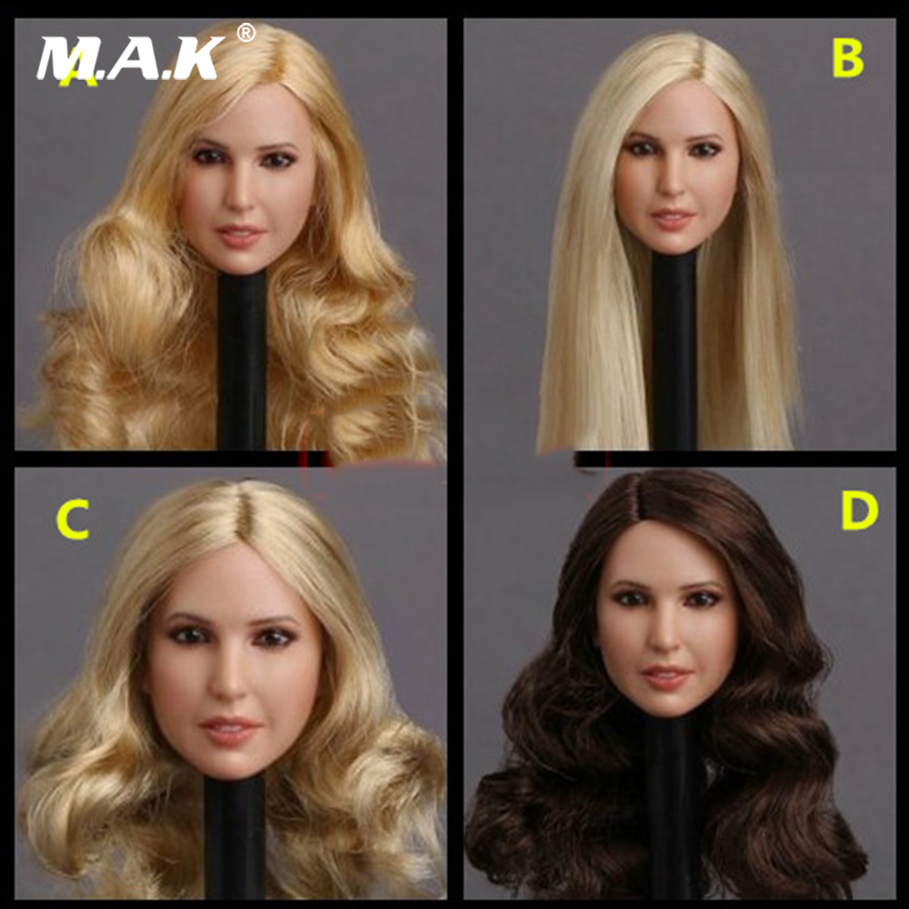 En stock GC018 1/6 échelle beauté européenne fille tête sculpter Ivanka Trump tête sculpture jouet 4 Styles pour 1:6 figurine femme