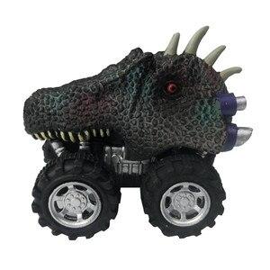 Image 5 - Venda quente mini dinossauro modelo de carro de brinquedo das crianças dinossauro puxar para trás carro de brinquedo tyrannosaurus carro figura de ação brinquedos presentes de natal