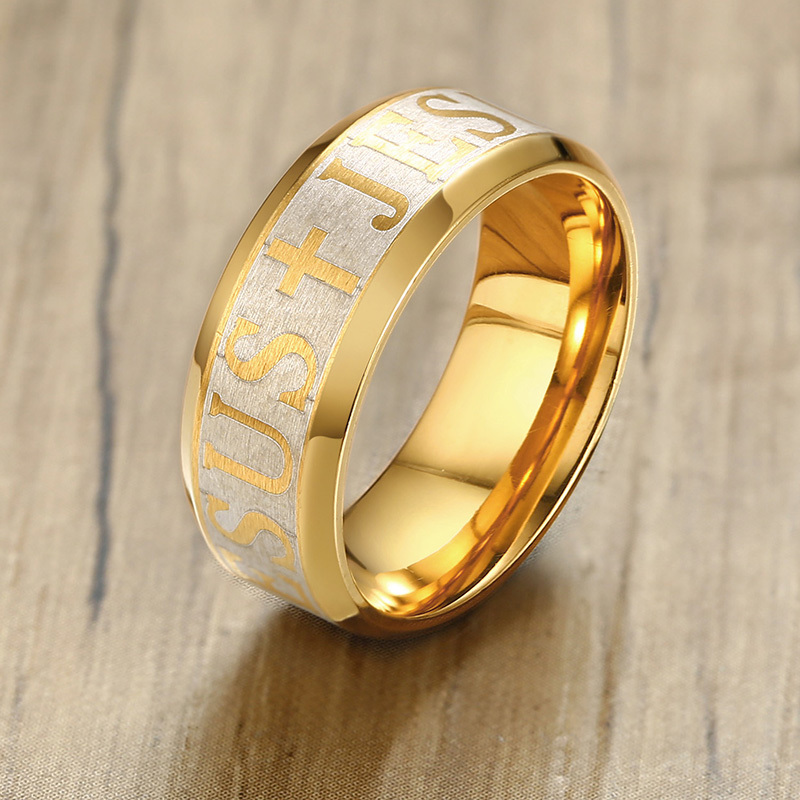 Stainless Steel Men's Ring Jesus